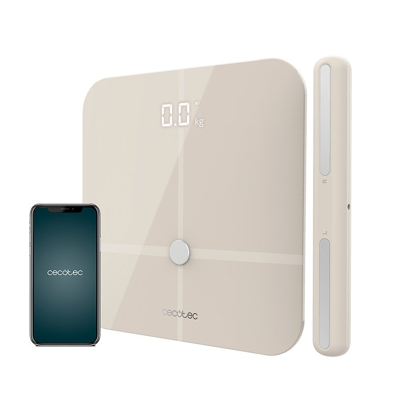 Cecotec Surface Precision 10600 Smart Healthy Pro Báscula de Baño Inteligente Beige