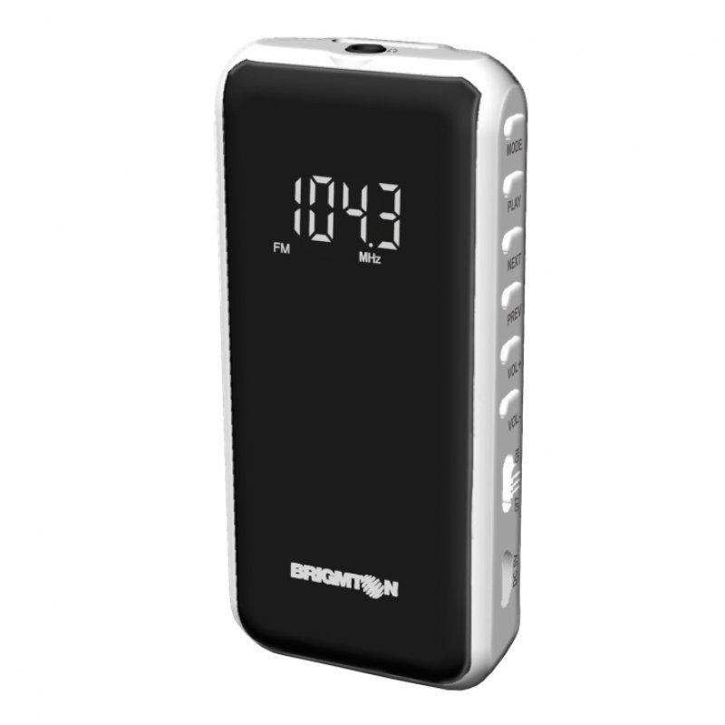 Brigmton BT-124 Radio Digital FM/MP3/microSD Blanca
