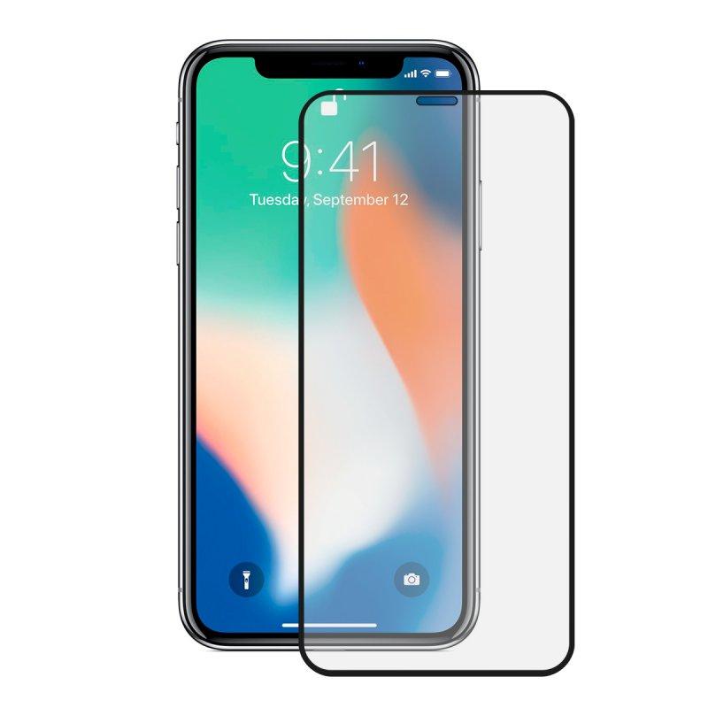 Mobile Tech Cristal Templado 9H Extreme 2.5D Borde Negro para iPhone 11 Pro
