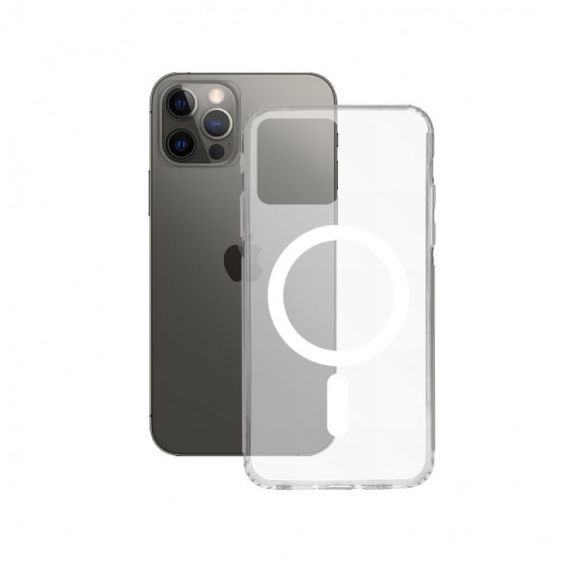 Mobile Tech Flex MagCharge Funda Transparente para iPhone 12 Pro