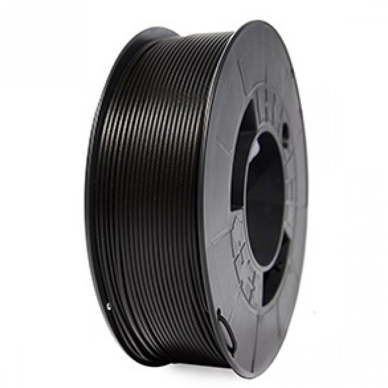 3DWorld Bobina de Filamento PLA Reforzado 1.75mm Negro 1Kg