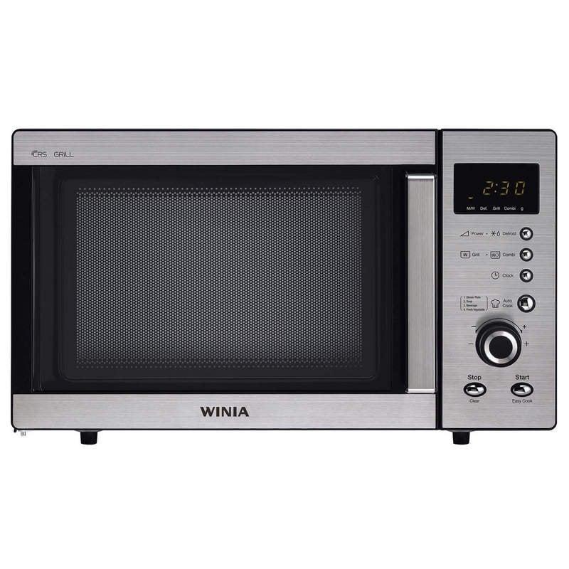 Winia WKOG-A8B5R Microondas con Grill 23L 800W Acero Inoxidable