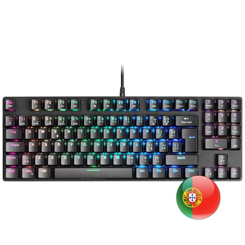 Mars Gaming MKREVOPRO Teclado Mecánico Gaming RGB Switch Rojo Portugués