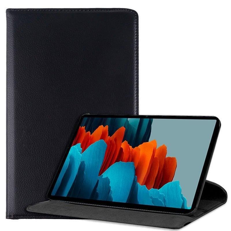 Cool Funda Libro Liso Negro Para Samsung Galaxy Tab S7