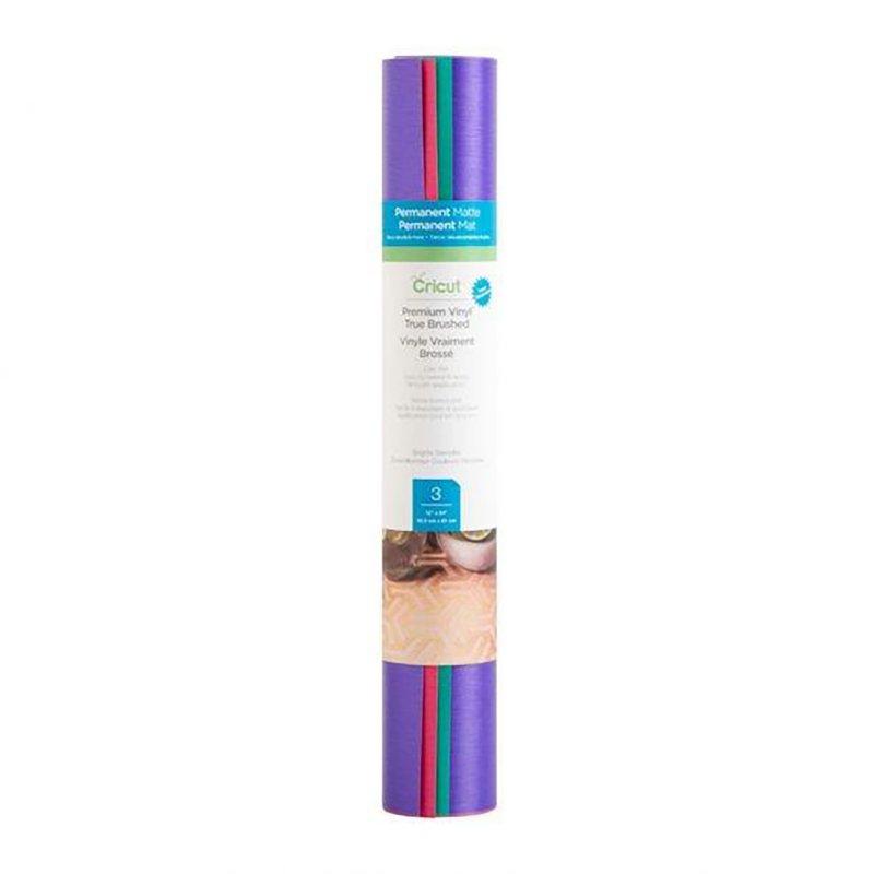 Cricut True Brushed Pack 3 Vinilos Adhesivos Permanentes 30.5 x 61 cm Colores Brillantes