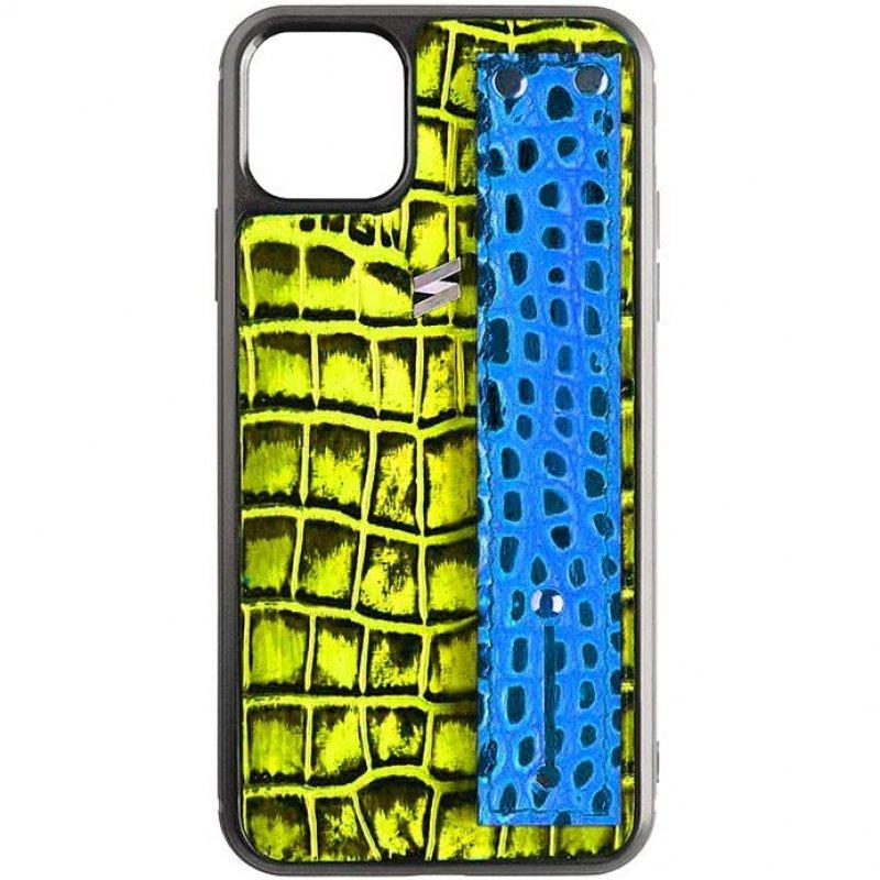 Suritt Benny Strap Funda de Piel/Cuero Amarillo para iPhone 11 Pro Max
