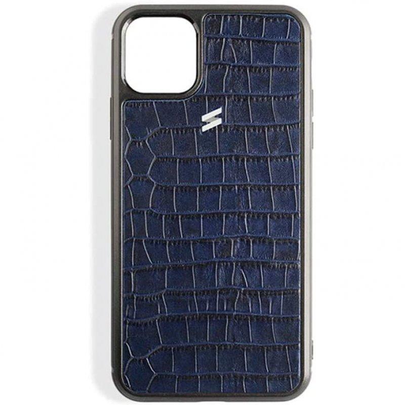 Suritt Sidney Funda de Piel/Cuero Azul para iPhone 11 Pro Max