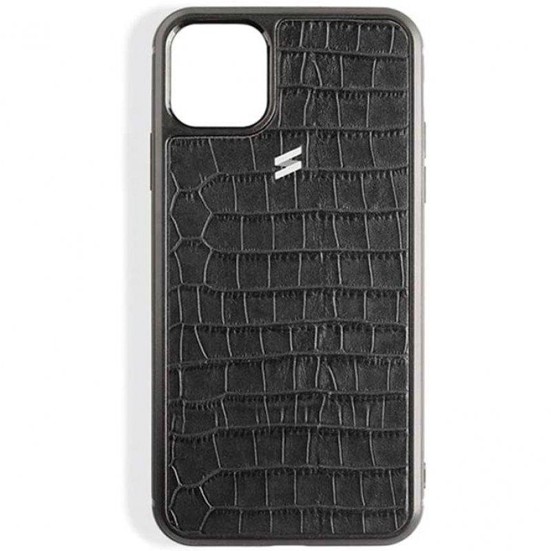 Suritt Sidney Funda de Piel/Cuero Negro para iPhone 11 Pro Max