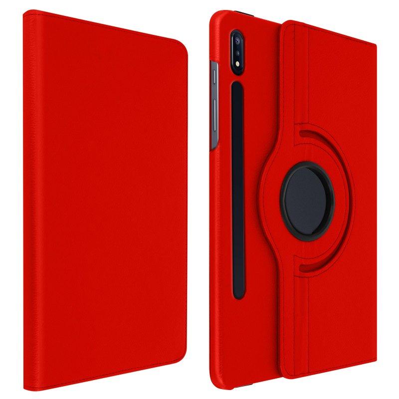 Avizar Funda Libro Soporte Roja para Samsung Galaxy Tab S7 11.0