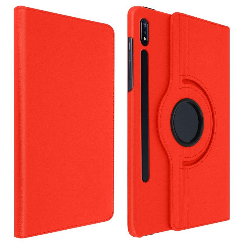 Avizar Funda Libro Soporte Roja para Samsung Galaxy Tab S7 Plus 12.4