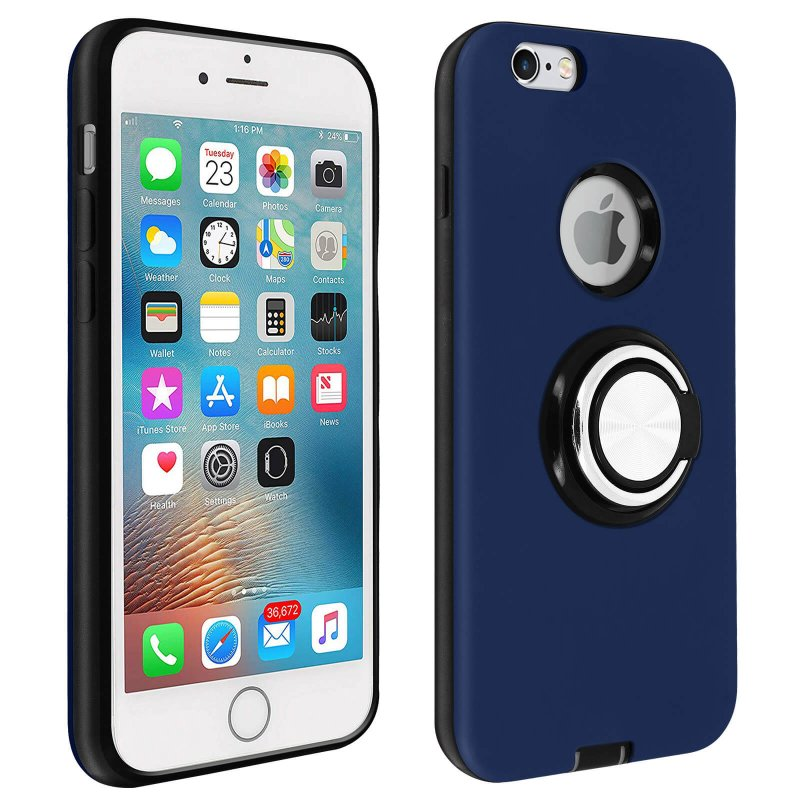 Avizar Carcasa Antigolpes Azul Oscuro para Apple iPhone 6/6S
