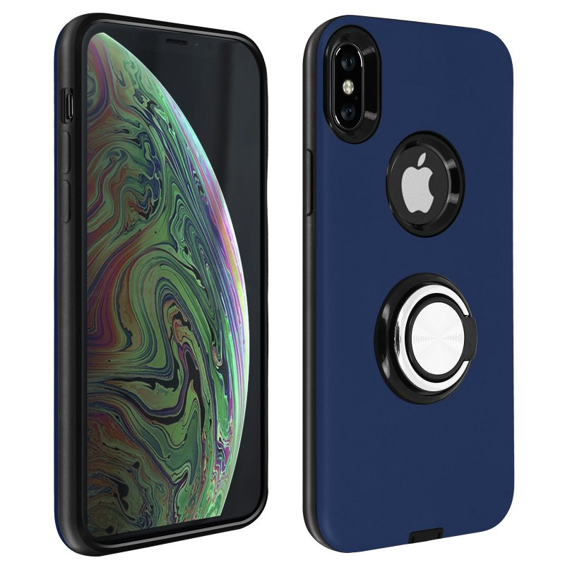 Avizar Carcasa Antigolpes Azul Oscuro para Apple iPhone XS Max
