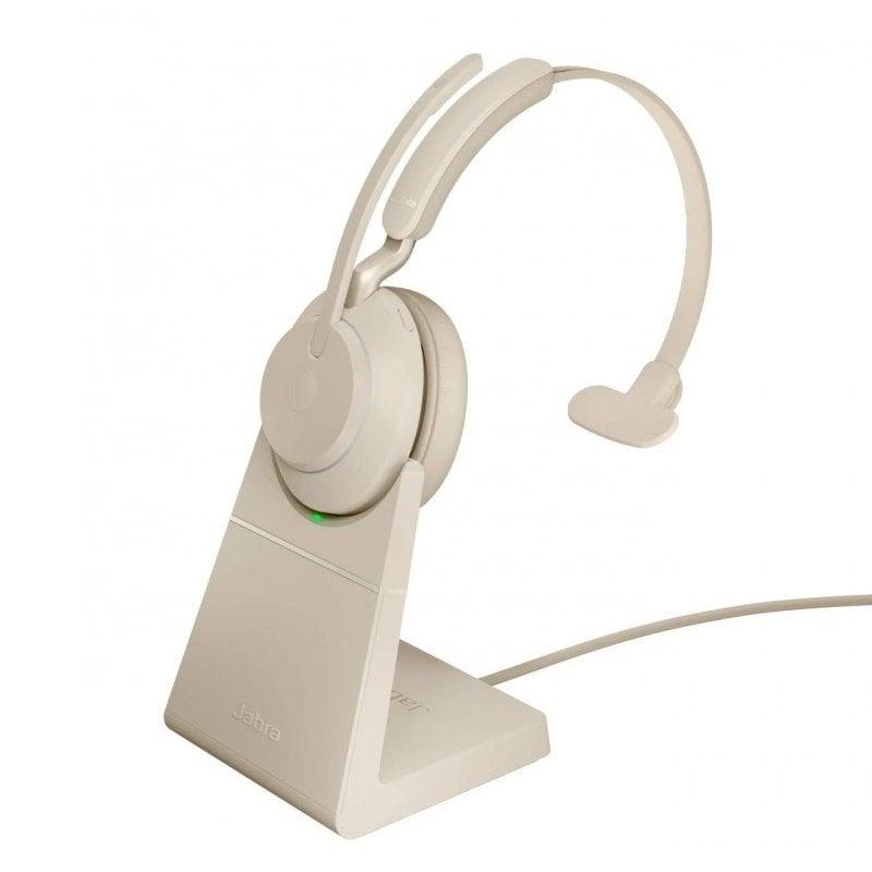 Jabra Evolve2 65 UC Auricular Monoaural USB-C Beige