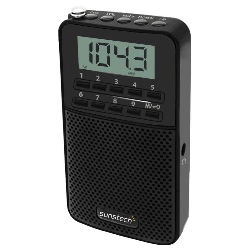 Sunstech RPDS81BK Radio Digital AM/FM Negra