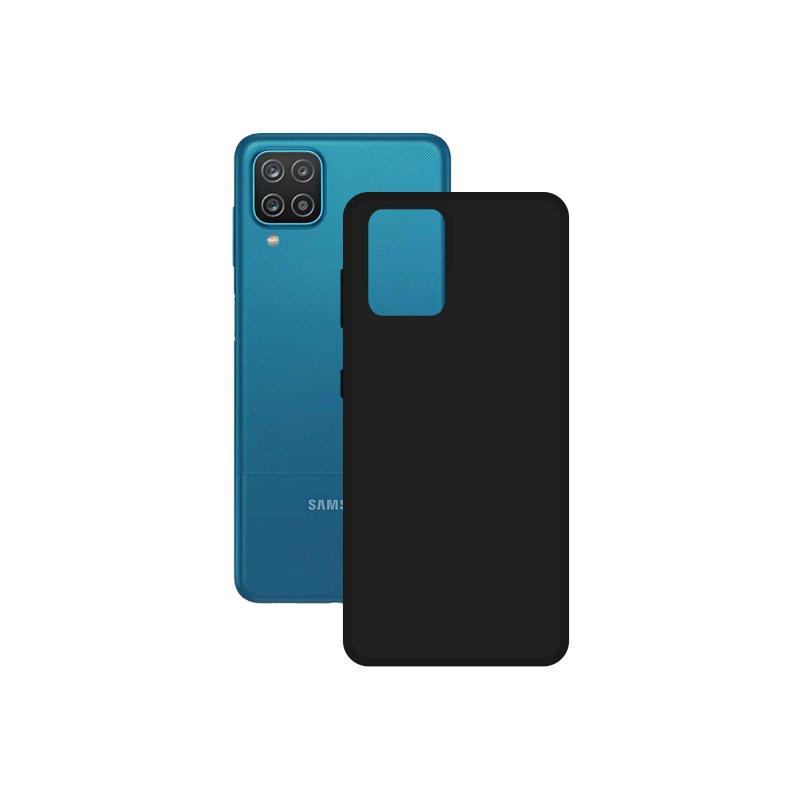 Mobile Tech Funda Silk Contact Negra para Samsung Galaxy A12