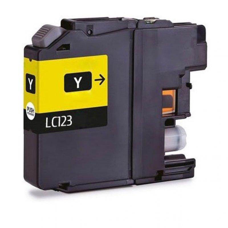 Inkpro Brother LC123XL/LC121XL Cartucho de Tinta Compatible Amarillo