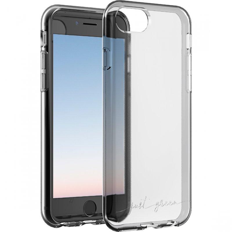Just Green Carcasa Transparente Biodegradable para iPhone 6/6S/7/8/SE2020