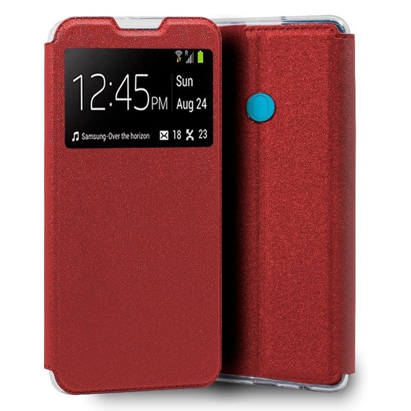 Cool Funda Flip Cover Liso Rojo Para Samsung Galaxy M11 / A11