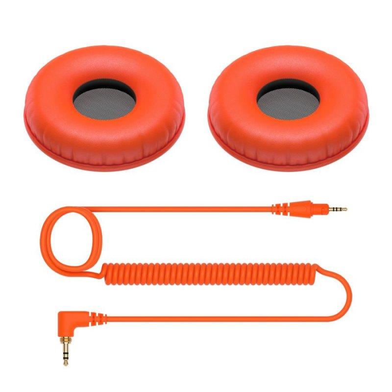 Pioneer DJ HDJ-CUE1 Recambio Cable y Almohadillas Naranja