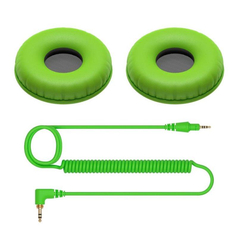 Pioneer DJ HDJ-CUE1 Recambio Cable y Almohadillas Verde