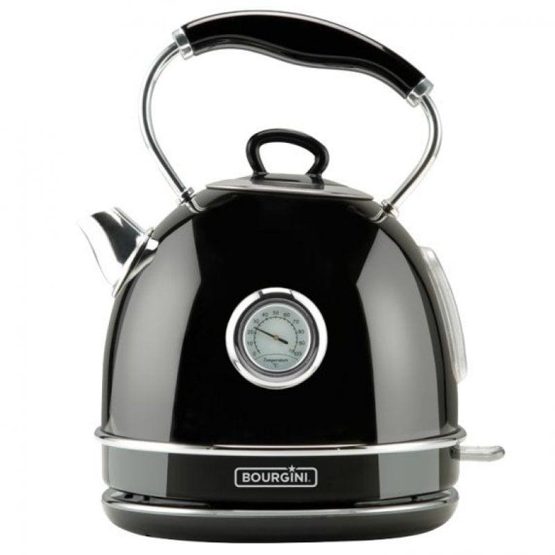 Bourgini Nostalgic Thermo Hervidor de Agua 1.7L 2200W Negro