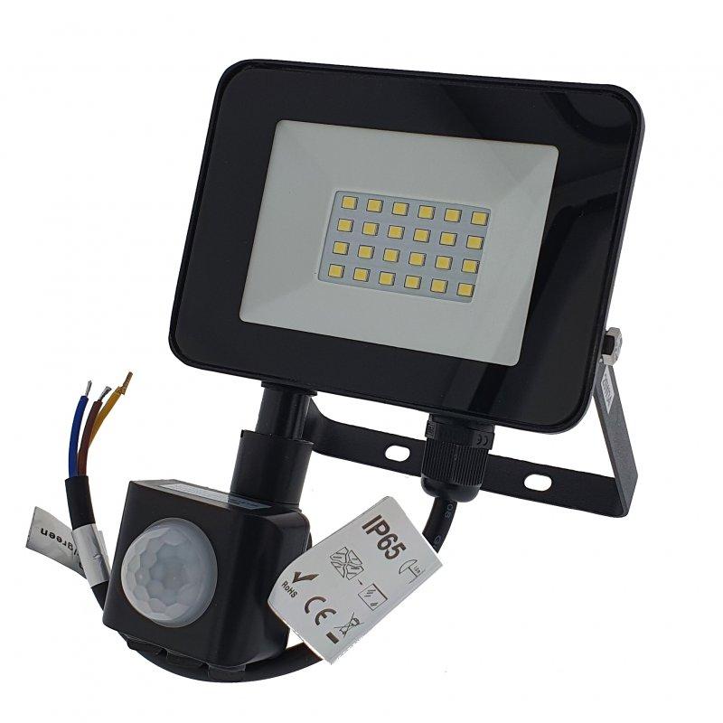 Bricoled 14111 Proyector LED con Sensor de Movimiento 20W Blanco Frío