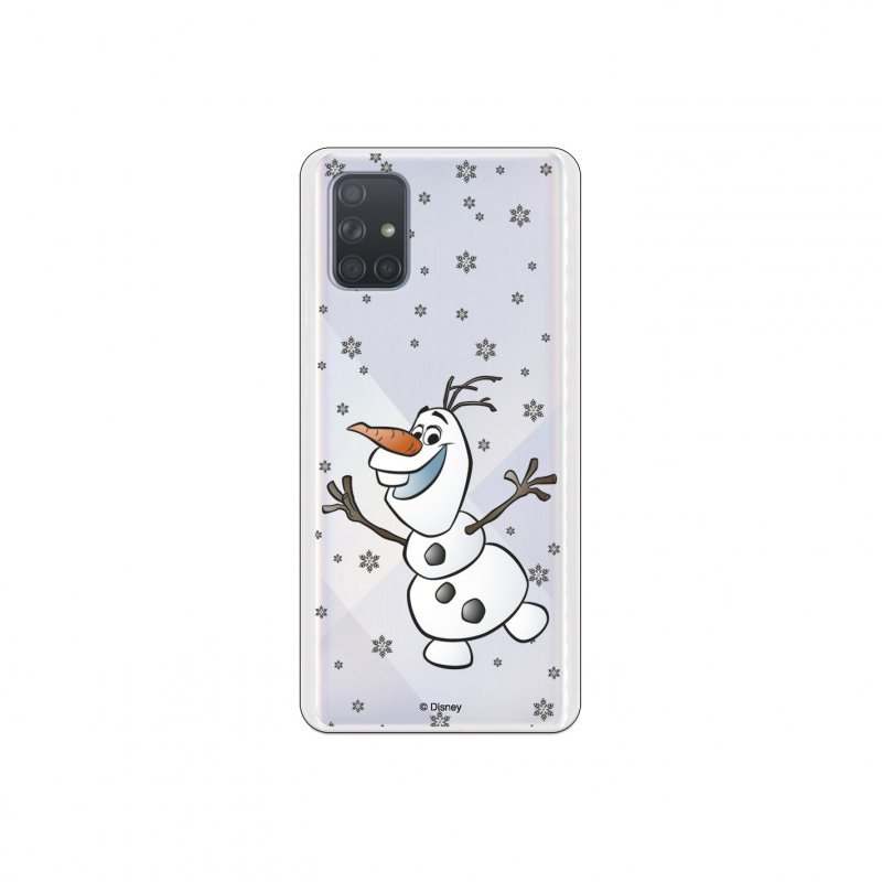 Funda Oficial de Disney Frozen Olaf Transparente para Samsung Galaxy A71