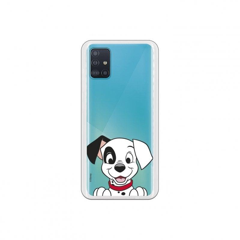 Funda Oficial de Disney 101 Dálmatas Cachorro Sonrisa para Samsung Galaxy A51