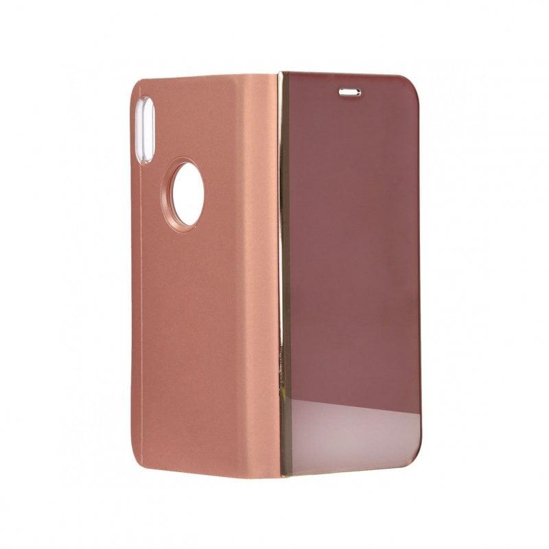Funda Libro Espejo Oro Rosa para iPhone XR
