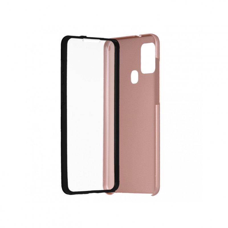 Funda Cromada con Tapa Oro Rosa para Samsung Galaxy A21S
