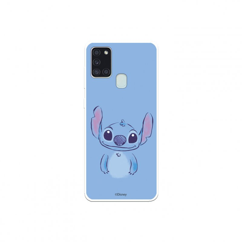Funda Oficial de Disney Stitch Azul Lilo y Stitch para Samsung Galaxy A21S