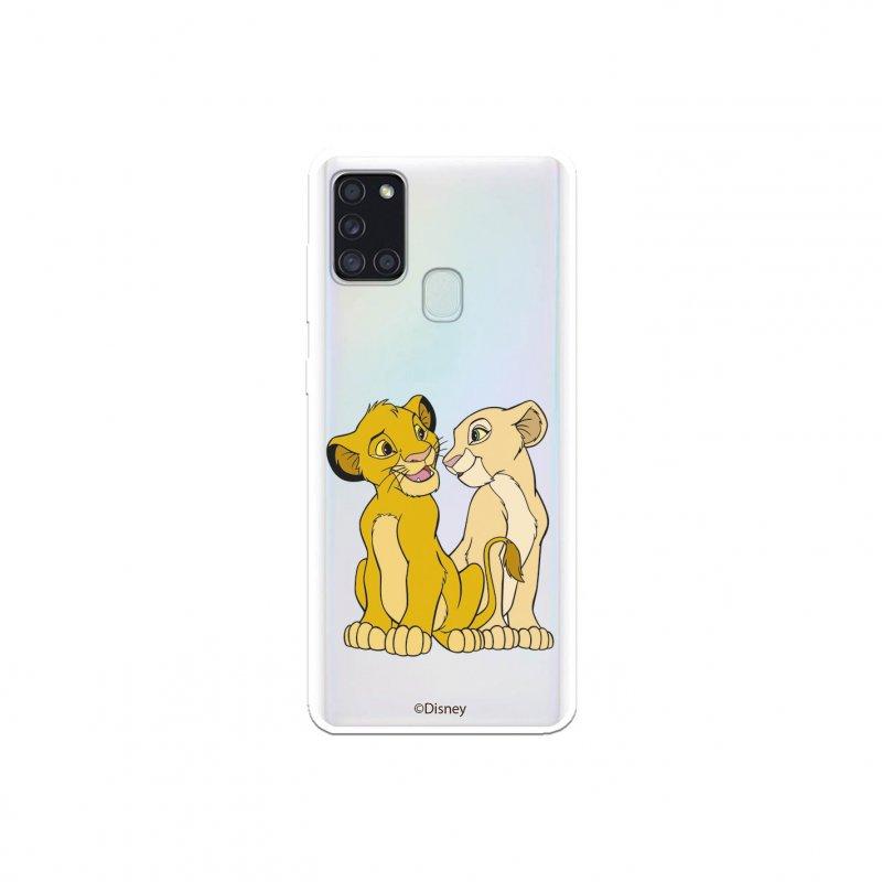 Funda Oficial De Disney Simba Y Nala Silueta El Rey León Para Samsung Galaxy A21S