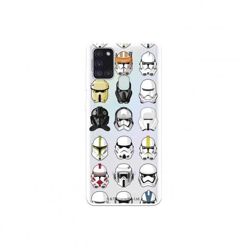 Funda Oficial de Star Wars Patrón Cascos Star Wars para Samsung Galaxy A21S