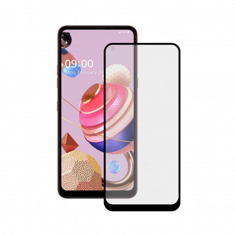 Mobile Tech Cristal Templado 9H Extreme 2.5D Borde Negro para LG K51S