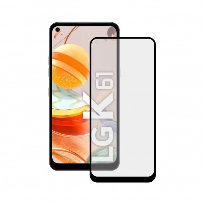 Mobile Tech Cristal Templado 9H Extreme 2.5D Borde Negro para LG K61
