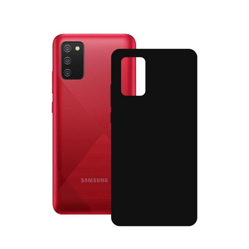 Mobile Tech Funda Silk Negra para Samsung Galaxy A02S
