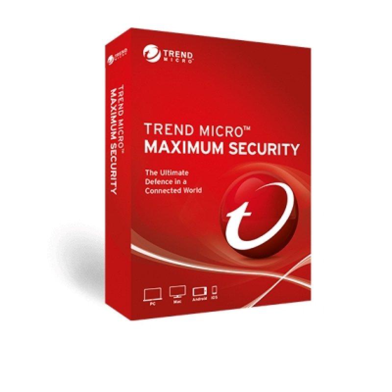Trend Micro Maximum Security 5 PC 1 Año Licencia Digital