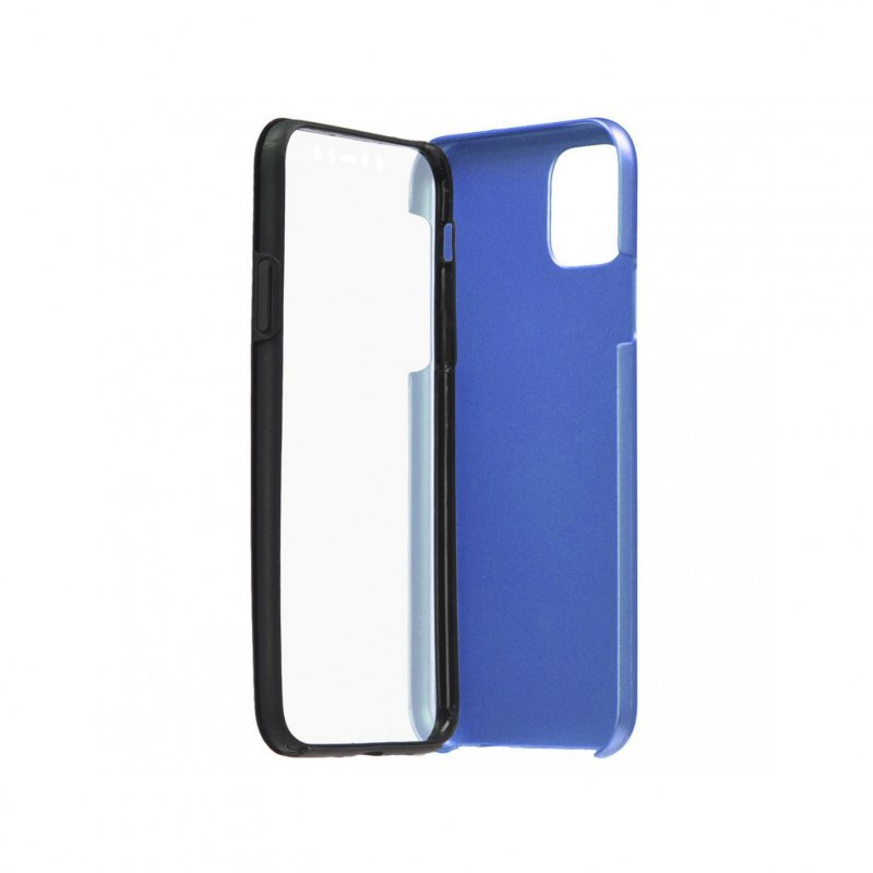 Funda Cromada Con Tapa Azul Para IPhone 11 Pro Max