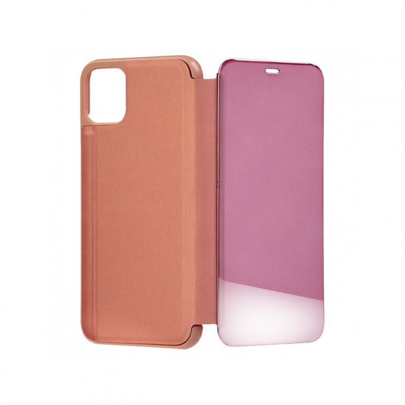 Funda Libro Espejo Oro Rosa para iPhone 11 Pro Max