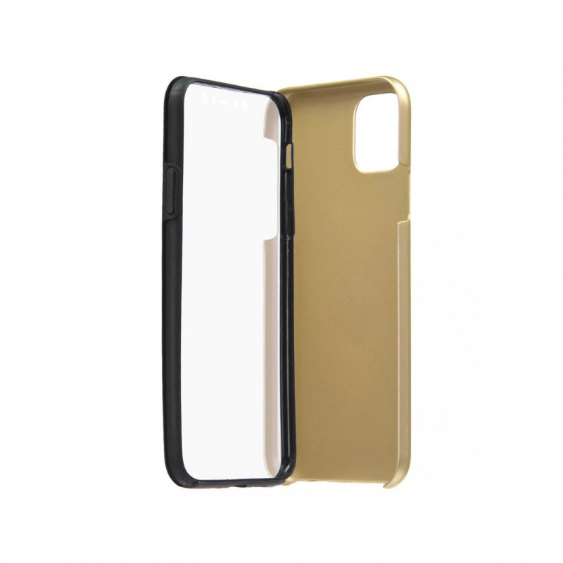 Funda Cromada con Tapa Oro para iPhone 11 Pro Max