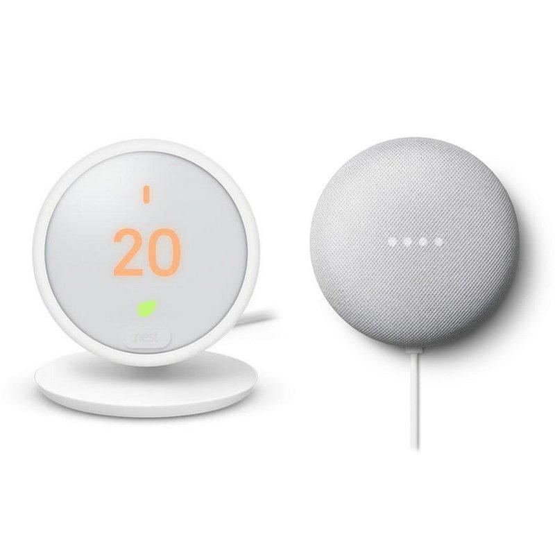 Google Pack Nest Thermostat E Termostato Inteligente + Google Nest...