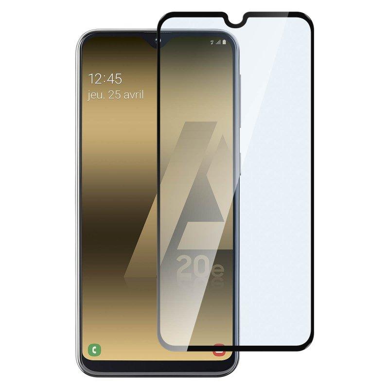 Avizar Protector Cristal Templado Negro para Samsung Galaxy A20e