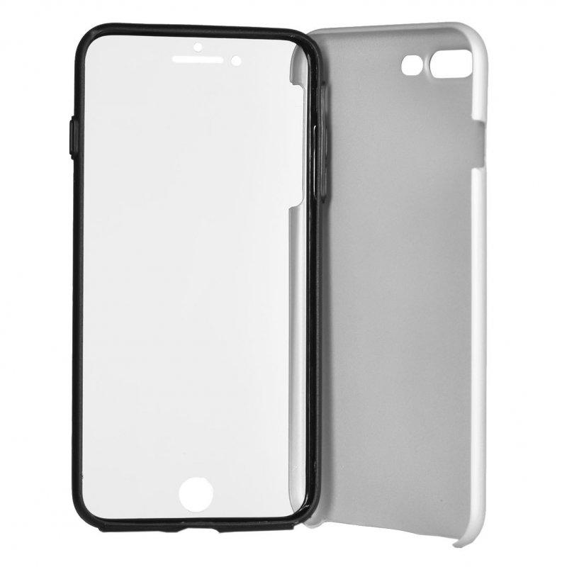 Funda Cromada con Tapa Plata para iPhone 7 Plus