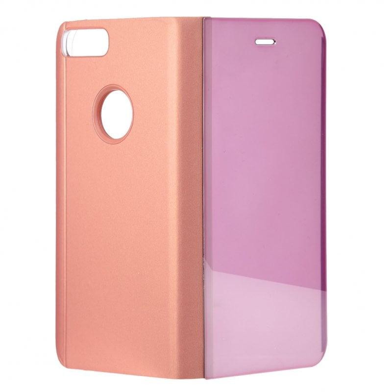 Funda Libro Espejo Oro Rosa Para IPhone 7 Plus