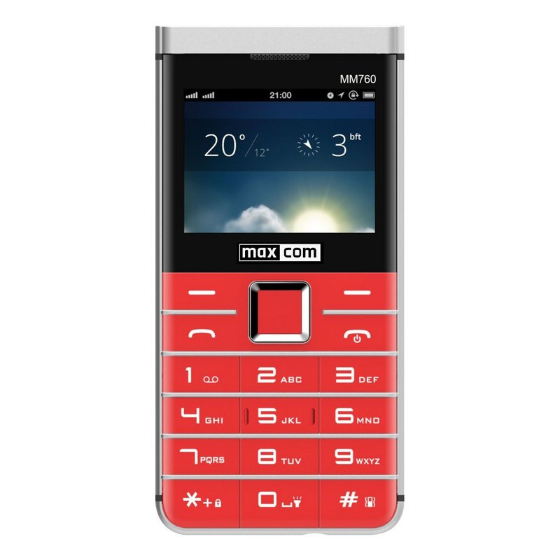 Maxcom Comfort MM750 Teléfono para Mayores Rojo