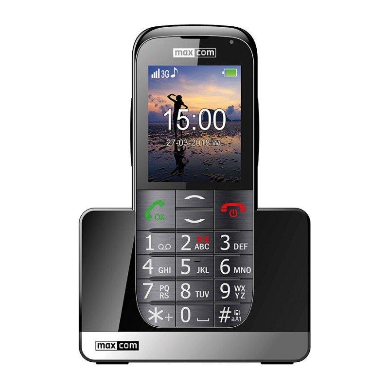 Maxcom Comfort MM721 3G Teléfono para Mayores Negro