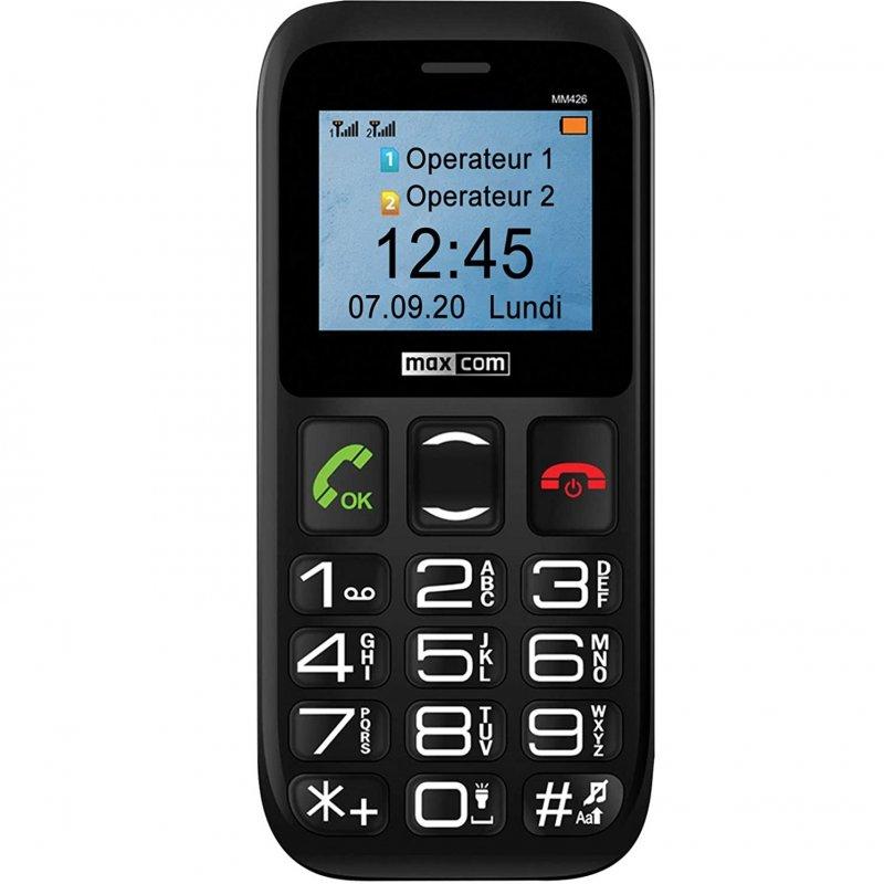 Maxcom Comfort MM426 Teléfono para Mayores Negro