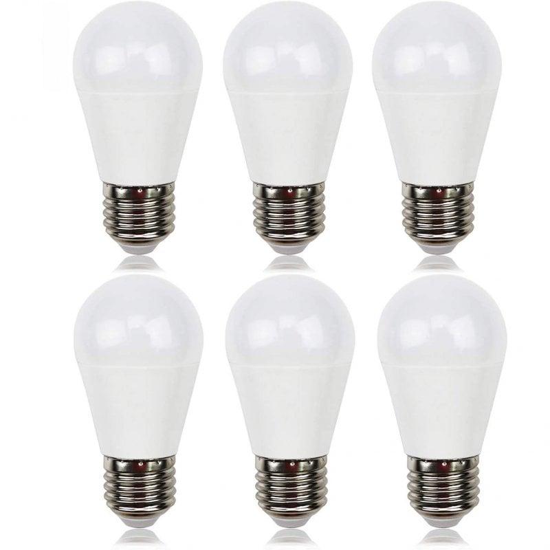 Extrastar Pack 6 Bombillas LED E27 7W Blanco Neutro