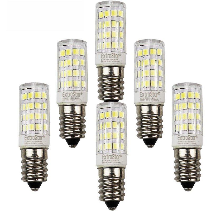 Extrastar Pack 6 Bombillas LED E14 3.3W Blanco Frío