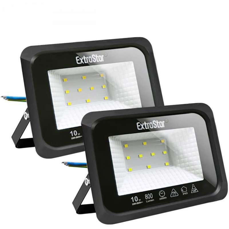 Extrastar Pack 2 Focos LED de Exterior 10WBlanco Frío